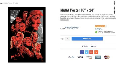 The poster, as shown in the Infowars online store.