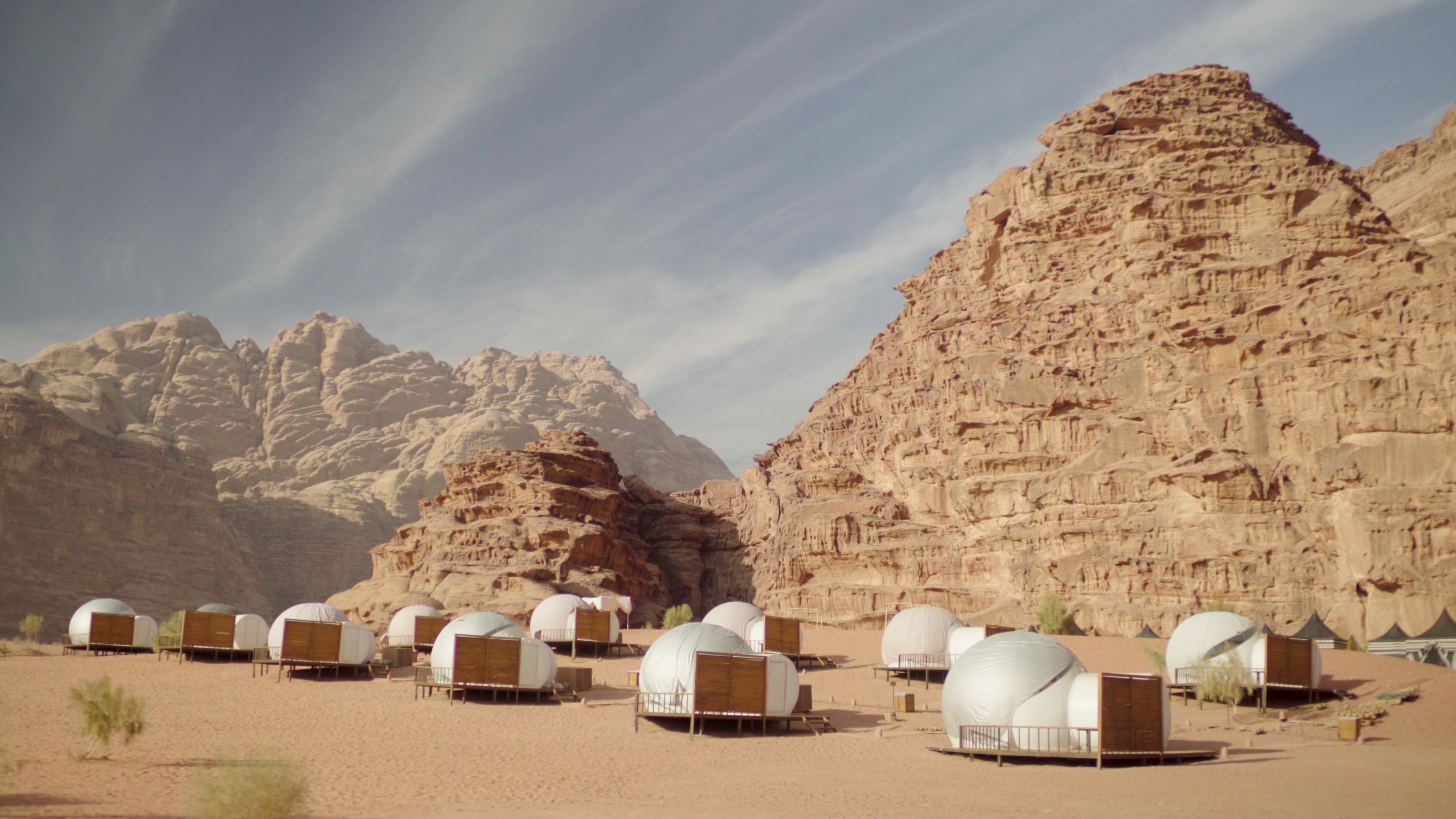 Image result for wadi rum jordan bubble tents