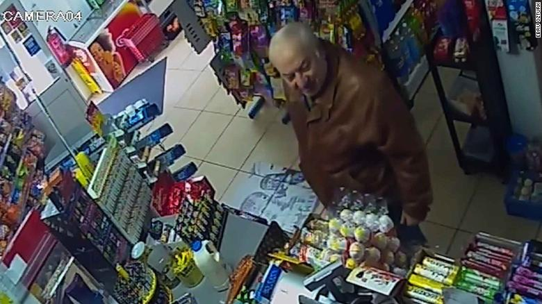 CCTV footage showed Skripal talking to Ozturk and buying items at the store on February 27, five days before he was apparently poisoned.