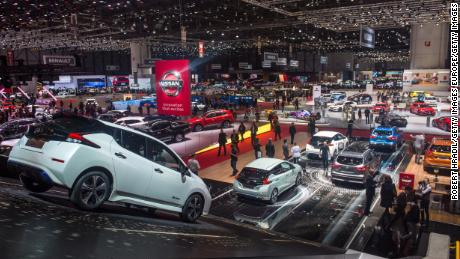 GENEVA, SWITZERLAND - MARCH 07: Feature of the Geneva Car Show halls at the 88th Geneva International Motor Show on March 7, 2018 in Geneva, Switzerland. Global automakers are converging on the show as many seek to roll out viable, mass-production alternatives to the traditional combustion engine, especially in the form of electric cars. The Geneva auto show is also the premiere venue for luxury sports cars and imaginative prototypes. (Photo by Robert Hradil/Getty Images)