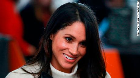 Britain's Prince Harry's fiancee US actress Meghan Markle attends an event with the prince hosted by social enterprise Stemettes to celebrate International Women's Day at Millennium Point in Birmingham on March 8, 2018.