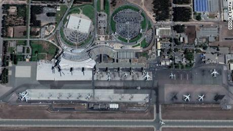 Satellite image of Casablanca Mohammed V International Airport, Morocco.
