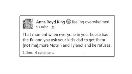 Anne King's Facebook post, as it appears in her civil complaint.