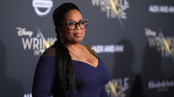 Oprah Winfrey attends the premiere of Disney