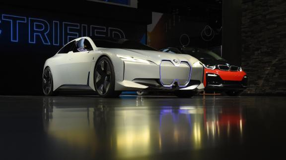 An amalgamation of the BMW i3 and BMW i8, the i Vision Dynamics concept has a range of 373 miles and accelerates from 0-62mph in four seconds.