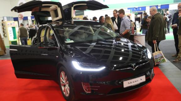 """Described as the """"safest SUV ever,"""" the new Model X seats seven but can accelerate from 0-60mph in just 2.9 seconds."""