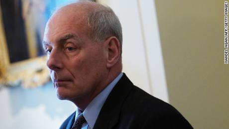 White House Chief of Staff John Kelly takes part in a meeting between US President Donald Trump and bipartisan members of Congress on school and community safety in the Cabinet Room of the White House on February 28, 2018 in Washington, DC.(MANDEL NGAN/AFP/Getty Images)