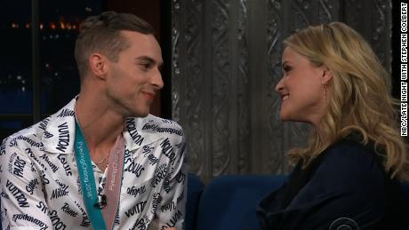 Reese Witherspoon Adam Rippon Colbert