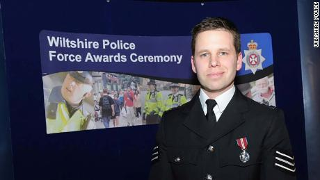 Picture of Wiltshire Detective Sergeant Nick Bailey, 38, the police officer who was left seriously ill after suffering from a nerve agent attack intended to hit former Russian spy Sergei Skripal and his daughter.