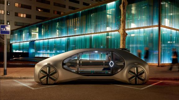 """Designed to transport up to to six passengers simultaneously, the EZ-GO concept is Renault's """"vision of shared urban mobility."""""""