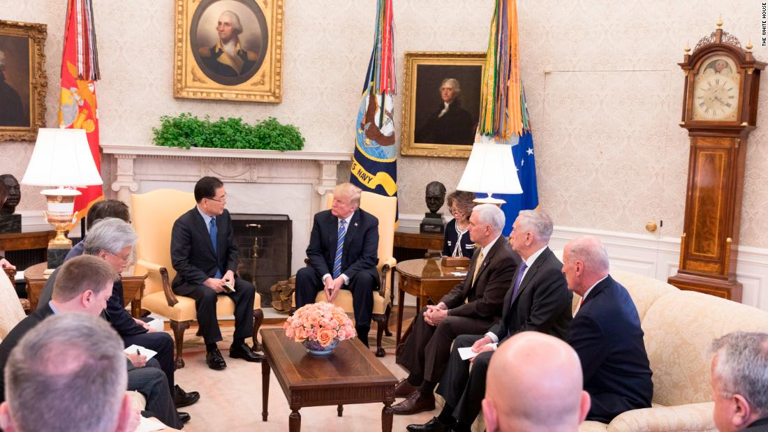 180309103626 white house meeting with the south korean delegation super 169 Donald Trump's North Korea strategy exceeds expectations