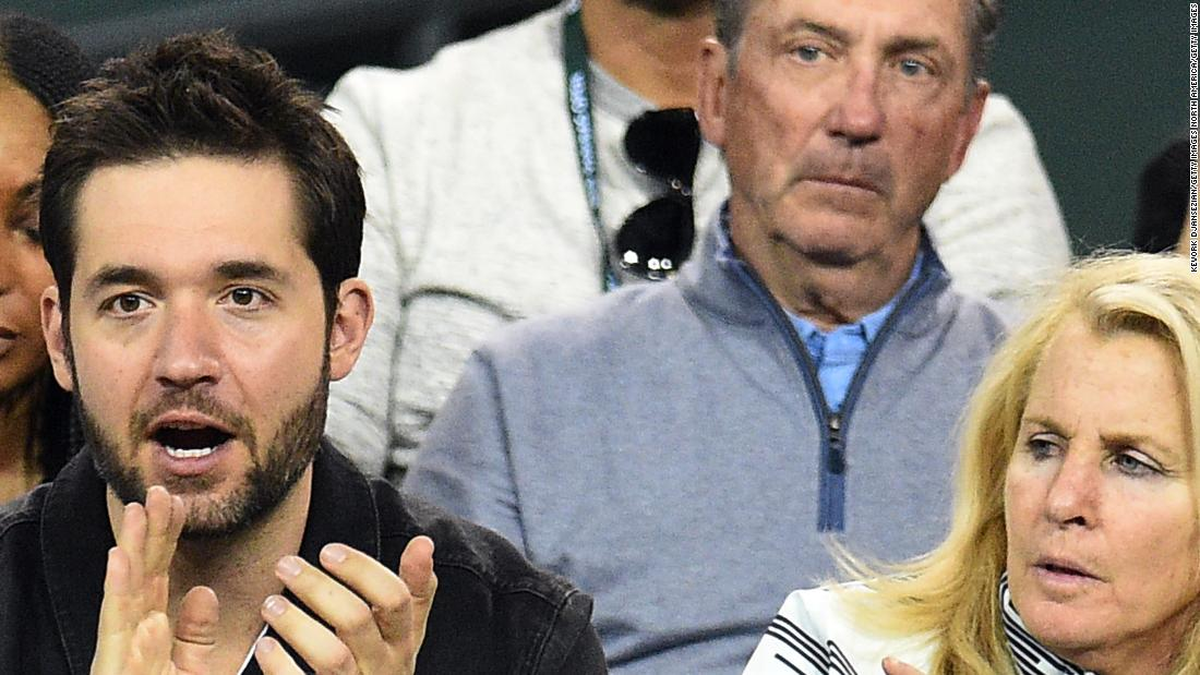 Williams was cheered on by husband and Reddit co-founder Alexis Ohanian (left) and longtime agent Jill Smoller.