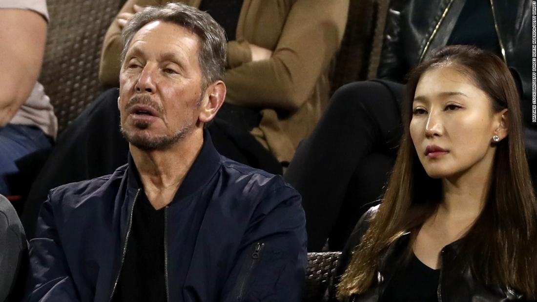 Oracle co-founder and Indian Wells tournament owner Larry Ellison (left) was another in the crowd and he watched Williams win the final three games of the match to advance.