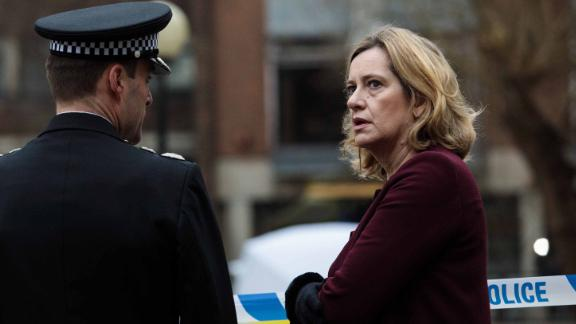 UK Home Secretary Amber Rudd is shown a scene connected to the nerve agent attack on Friday morning.