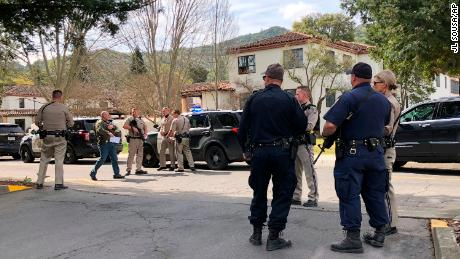 Officers are at the scene Friday at the Veterans Home of California in Yountville.