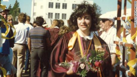 Katia Hetter at her high school graduation.