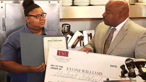 Evoni Williams received a $16,000 scholarship to Texas Southern University, where she plans to study business administration.