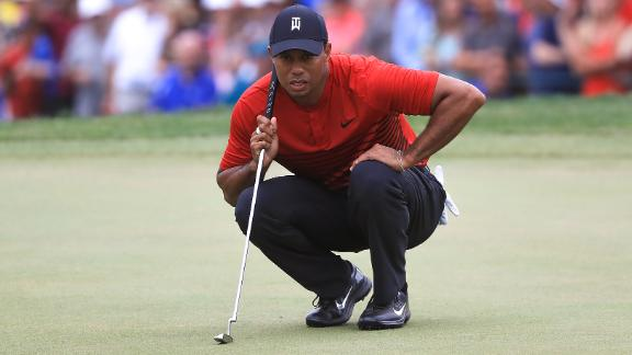 Back to his best? Woods recorded his best result since 2013 as he finished second at the Valspar Championship. Woods finished one shot behind winner Paul Casey.