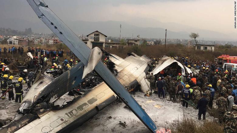 बांग्लादेशी विमान नेपाल में क्रैश , 49 लोगों की मौत