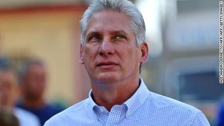 Cuba's First Vice-President Miguel Diaz-Canel queues at a polling station in Santa Clara, Cuba, during an election to ratify a new National Assembly, on March 11, 2018.  Cubans vote to ratify a new National Assembly on Sunday, a key step in a process leading to the election of a new president, the first in nearly 60 years from outside the Castro family. The new members of the National Assembly will be tasked with choosing a successor to 86-year-old President Raul Castro when he steps down next month.  / AFP PHOTO / POOL / Alejandro Ernesto        (Photo credit should read ALEJANDRO ERNESTO/AFP/Getty Images)