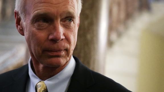 WASHINGTON, DC - DECEMBER 01:  U.S. Sen. Ron Johnson (R-WI) listens to a question from a member of the press at the Capitol December 1, 2017 in Washington, DC. Senate GOPs indicate that they have enough votes to pass the tax reform bill.  (Alex Wong/Getty Images)