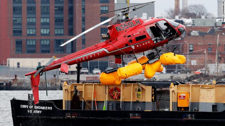 Helicopter crashes in NYC's East River