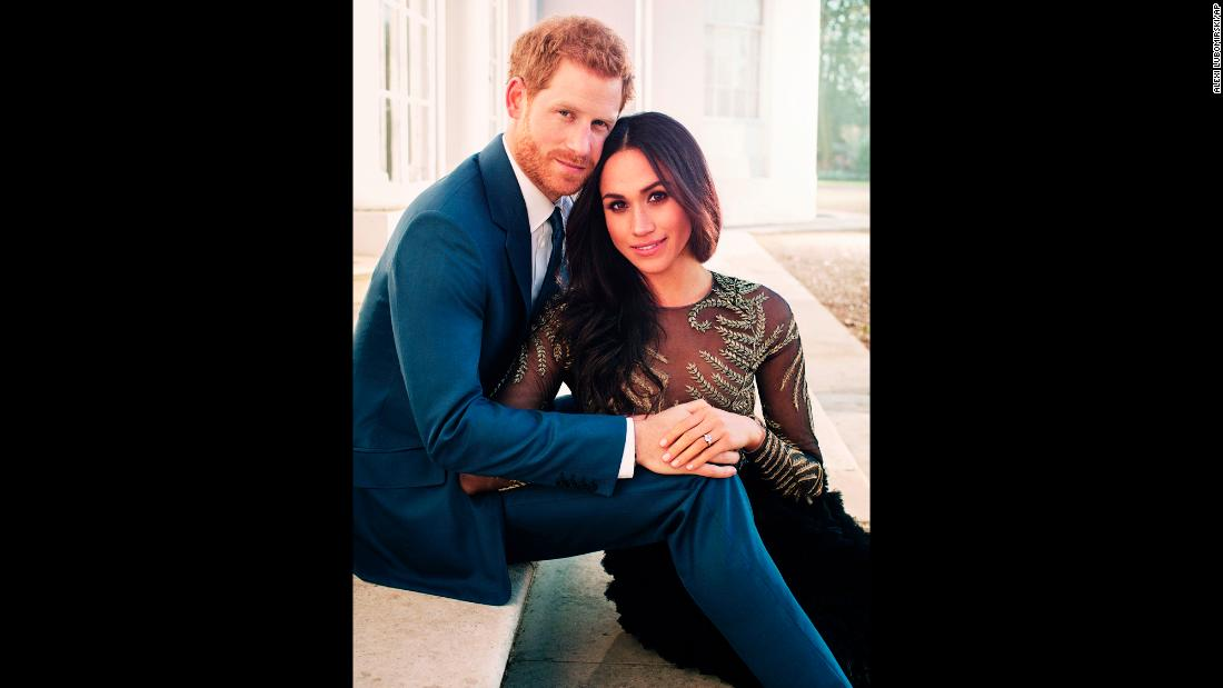 "This engagement photo <a href=""https://www.cnn.com/2017/12/21/europe/prince-harry-meghan-markle-official-photos-intl/index.html"" target=""_blank"">was released by Kensington Palace</a> in December 2017."