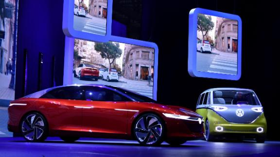 """Expected to hit the roads by """"2022 at the latest,"""" the I.D. Vizzion is also designed to be used predominantly with voice and gesture."""