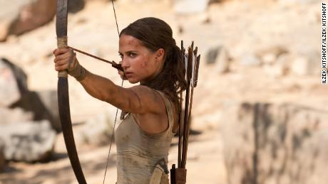 Alicia Vikander in 'Tomb Raider'