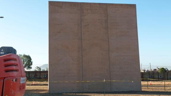 This $365,000 prototype was built by Fisher Sand & Gravel of Tempe, Arizona. Customs and Border Protection is evaluating eight potential barriers in San Diego and may use characteristics of them in future construction along the border.