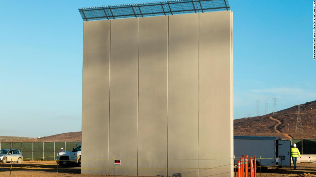 This $470,000 prototype was built by Texas Sterling Construction Co. of Houston, Texas. Customs and Border Protection is evaluating eight potential barriers in San Diego and may use characteristics of them in future construction along the border.