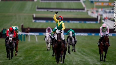 Jockey Robbie Power rode Sizing John to victory in the 2016 Cheltenham Gold Cup.