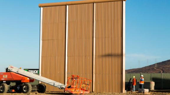 This $458,103 prototype was built by W.G. Yates & Sons of Philadelphia, Mississippi. Customs and Border Protection is evaluating eight potential barriers in San Diego and may use characteristics of them in future construction along the border.