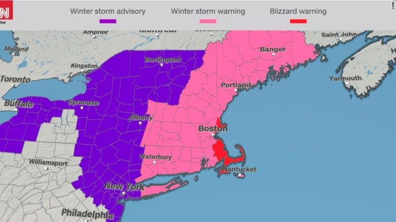 Another nor'easter to pound New England