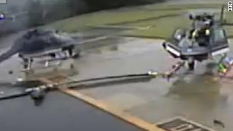 Video shows police helicopters collide