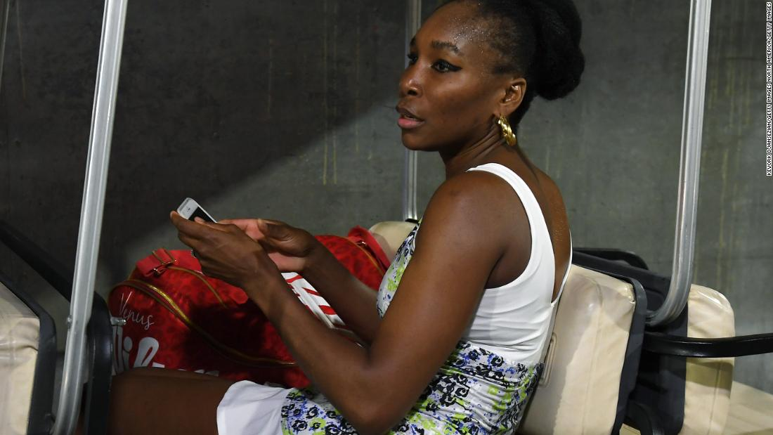 Venus then waited for a ride to the locker room. She will face 21st seed Anastasija Sevastova on Tuesday.
