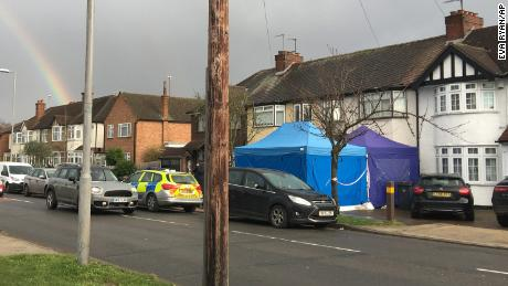 Police activity at a residential address in southwest London, Tuesday March 13.