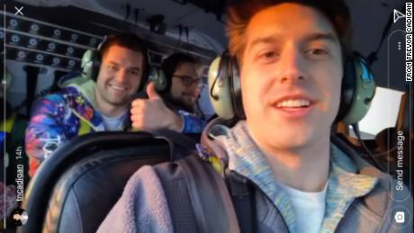 Video shows passengers' final moments before helicopter crash