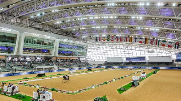 Indoor venue: Back-to-back with the outdoor arena is an indoor space that's almost a mirror-image, for use during searingly hot summer months.