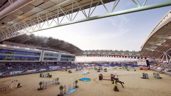 Twin arenas: The centerpiece of Al Shaqab is a huge eventing arena used to stage international competitions.