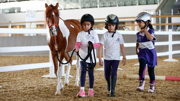 Junior riders: The center also has an equine education center, aimed at teaching local kids riding skills and nurturing the next generation of Arabian horse experts.