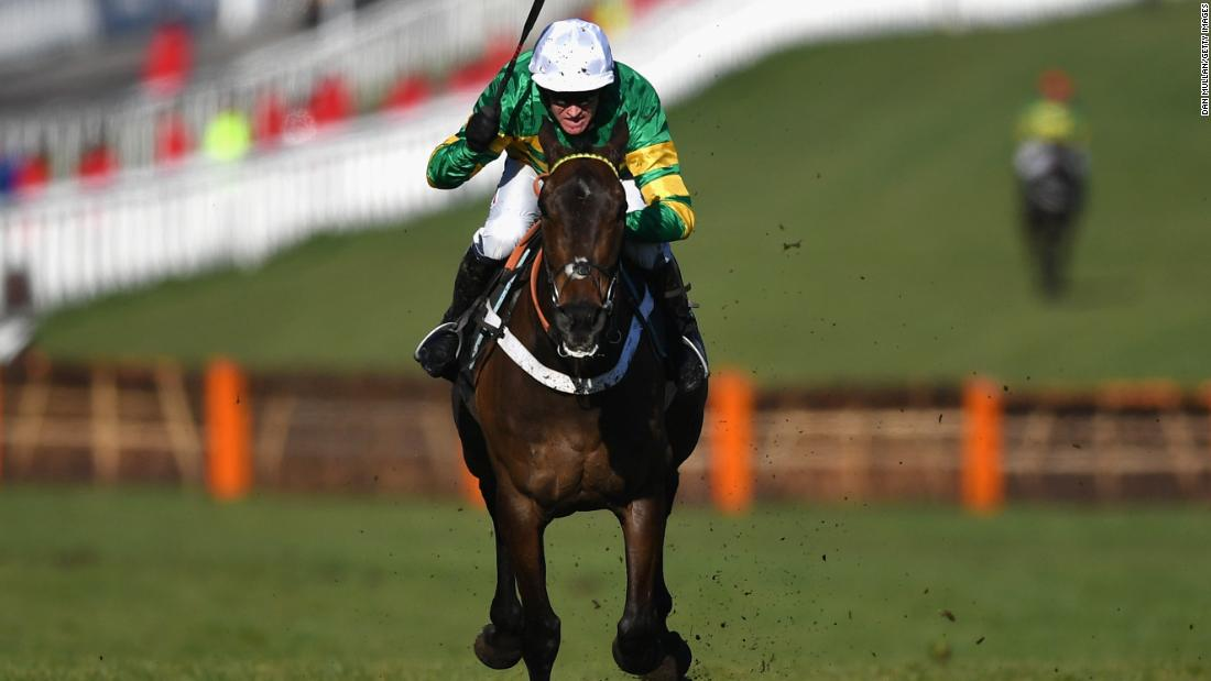 <strong>Champion hurdler:</strong> Buveur D'Air, ridden by Barry Geraghty, lived up to favorite tag as he scored a second straight Champion Hurdle on Tuesday, the feature race on day one of jump racing's showpiece Cheltenham Festival.