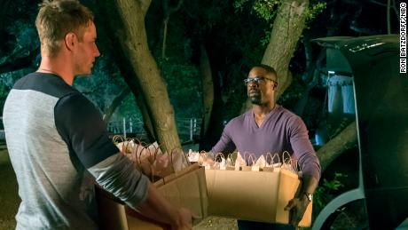 Justin Hartley as Kevin and Sterling K. Brown as Randall in the season finale of NBC's 'This Is Us.'