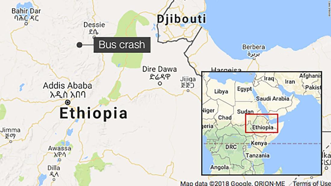 At least 38 people killed in Ethiopia bus crash