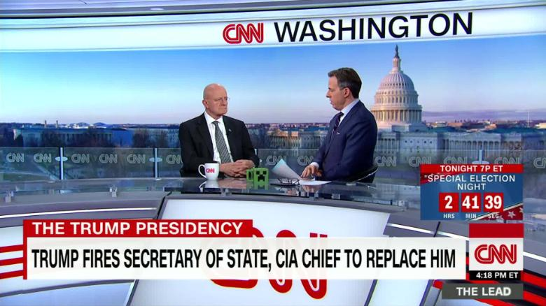Lead James Clapper on Tillerson departure live Jake Tapper_00010225