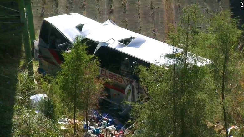 Bus full of teens crashed into a ravine