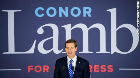 CANONSBURG, PA - MARCH 14: Conor Lamb, Democratic congressional candidate for Pennsylvania's 18th district, speaks to supporters at an election night rally March 14, 2018 in Canonsburg, Pennsylvania. Lamb claimed victory against Republican candidate Rick Saccone, but many news outlets report the race as too close to call. (Photo by Drew Angerer/Getty Images)