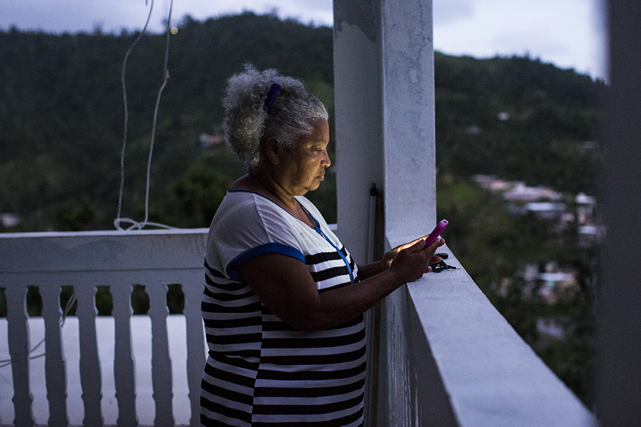 Julia Rodriguez has been without electric power service since Maria hit on September 20.