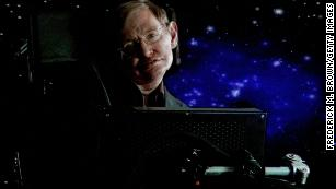 Stephen Hawking's voice bound for a black hole 3,500 light years away
