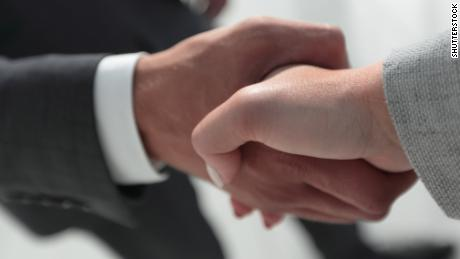 A strong handshake could indicate a healthy heart